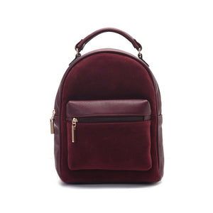 Burgundy Minimalist Backpack - Code 406