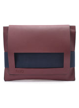 Load image into Gallery viewer, Burgundy laptop sleeve/leather Classeur - Code 600