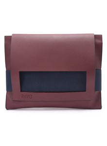 Burgundy laptop sleeve/leather Classeur - Code 600