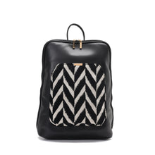 Load image into Gallery viewer, Laptop Black with Black and White fabric Backpack/Cross - Code 2000
