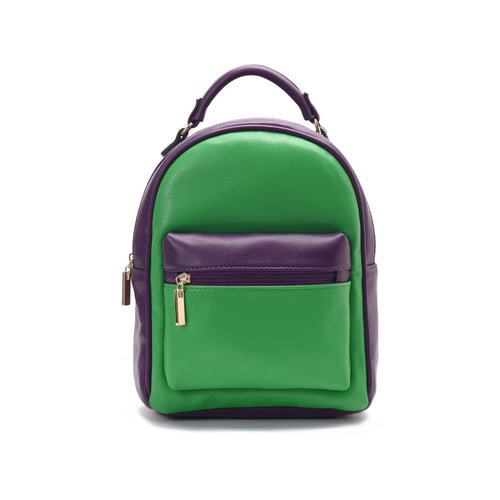 Purple and green Minimalist Backpack -Code 407