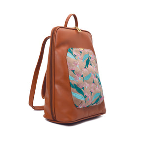 Laptop Camel with Beige embroideries fabric Backpack/Cross - Code 2012