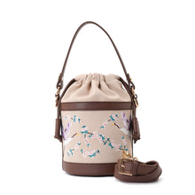 Load image into Gallery viewer, Retro Bucket Swan Handbag with Brown belt -Code 915