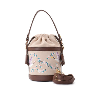 Retro Bucket Swan Handbag with Brown belt -Code 915