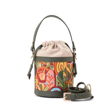 Load image into Gallery viewer, Retro Bucket Fall Handbag with Green belt -Code 914