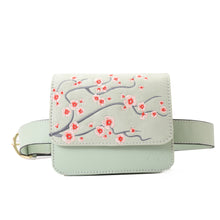 Load image into Gallery viewer, Cherry Blossom Mint Cross/waist Bag - - Code 704
