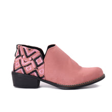 Load image into Gallery viewer, Ankle Rose Boots with Colourful embroideries -6032
