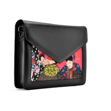 Load image into Gallery viewer, Laptop Bag/Sleeve Black with Multi colour Fabric -Code 101