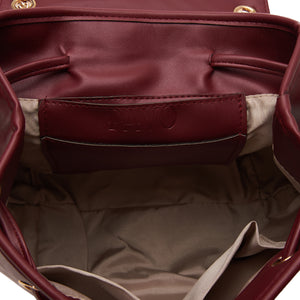 Quilted Burgundy Backpack- Code 801