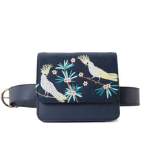 Load image into Gallery viewer, Cockatoo Navy Cross/waist Bag - - Code 702
