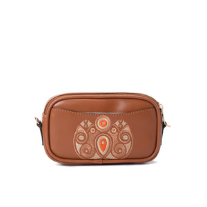 Burst Brown Handbag - Code 944