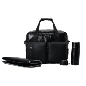 Diaper bag - Leather Black- Code 201