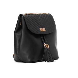 Quilted Black Backpack - Code 800