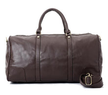 Load image into Gallery viewer, Duffle Bag unisex Dark Brown leather -314