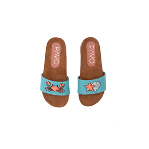 Star fish Blue Kids Slippers -Code 5202