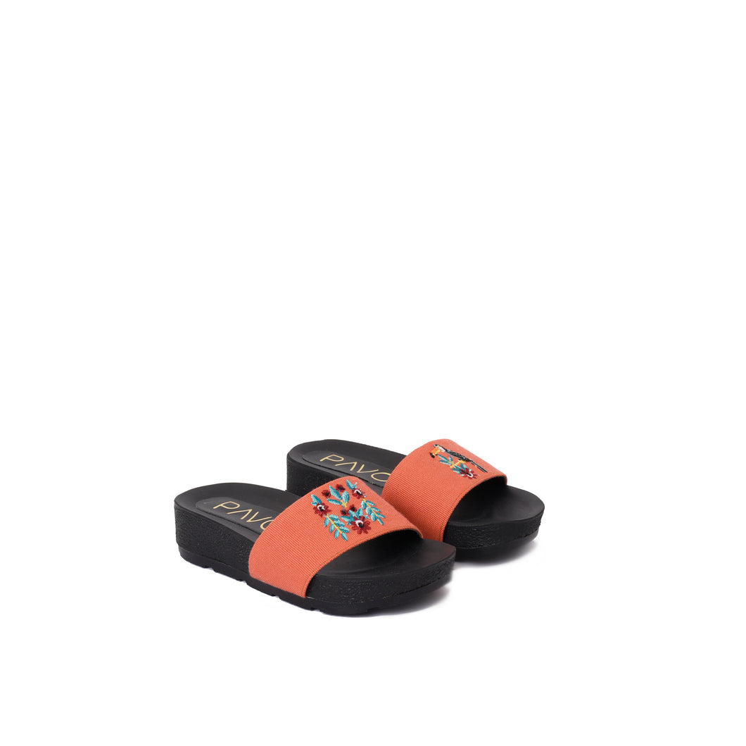 Toucan Orange Kids Slippers -Code 5201