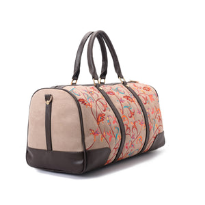 Indian duffle with embroidered multi coloured leather -315
