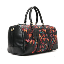 Load image into Gallery viewer, Indian black duffle with embroidered multi coloured leather -315