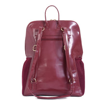 Load image into Gallery viewer, Diaper bag - Burgundy with Burgundy Crocodile texture pocket - 206