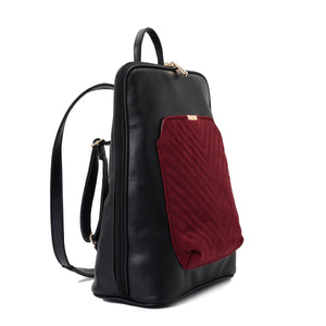 Laptop Black with Burgundy suede Backpack/Cross - Code 2004