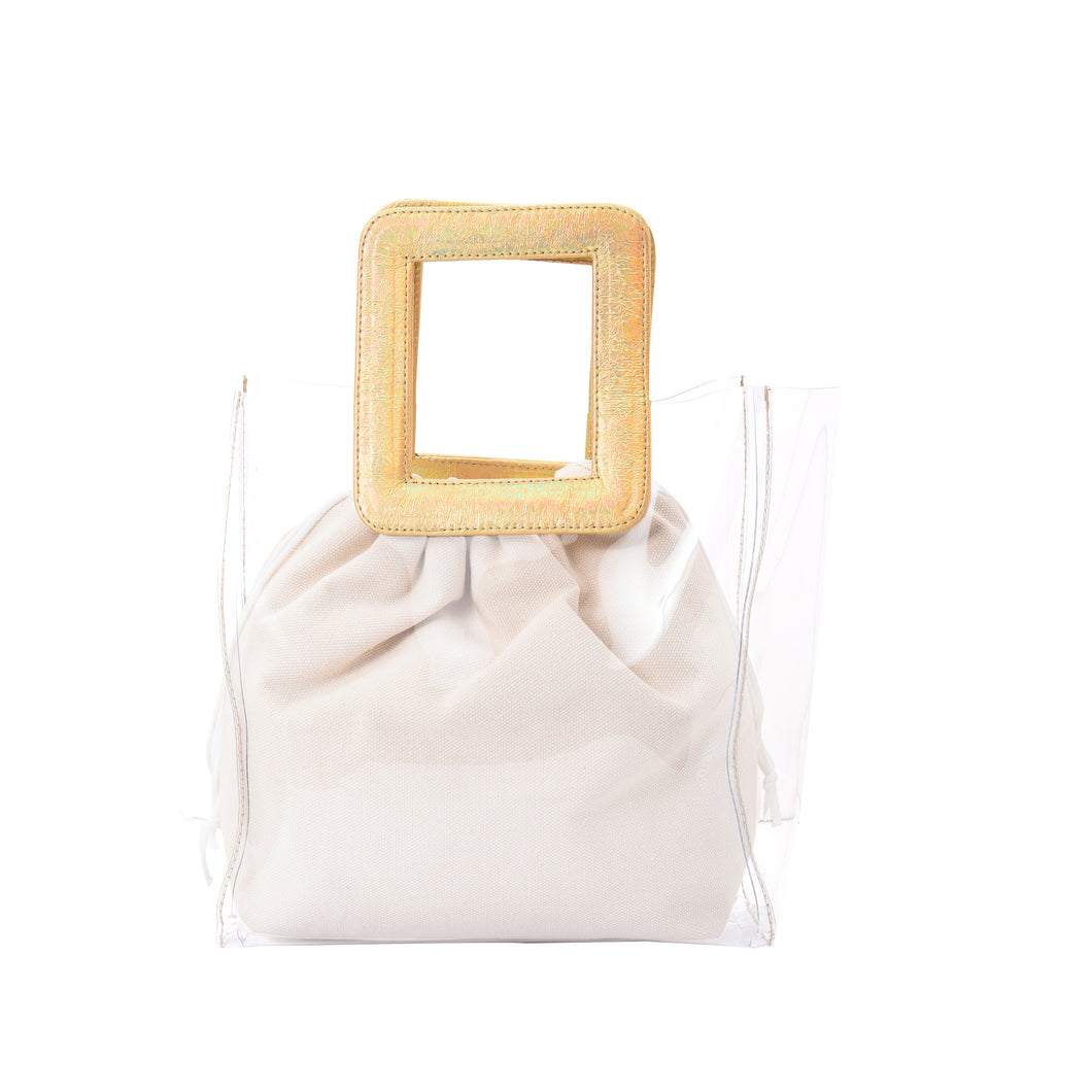 Beach Handbag with Gold Pouch-3000