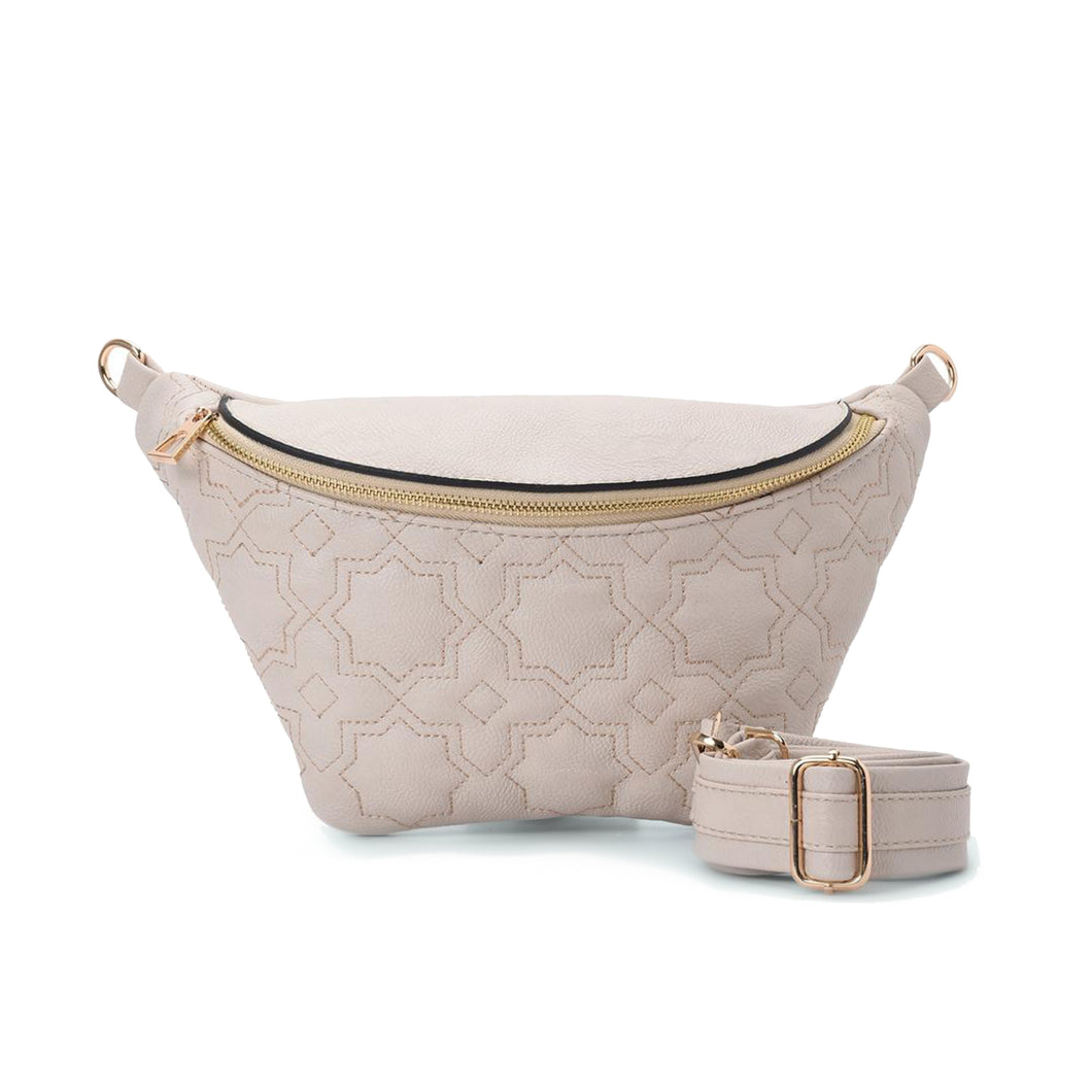 Fanny pack - Cream color with Mamluki Pattern- Code 1003