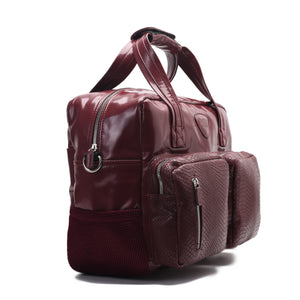 Diaper bag - Leather Burgundy-Code 203