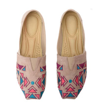 Load image into Gallery viewer, Geometric Beige Espadrilles-5102