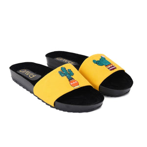 Cactus Yellow Slippers -Code 5014
