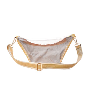 Fanny Beach bag with Metallic Gold Material-3008