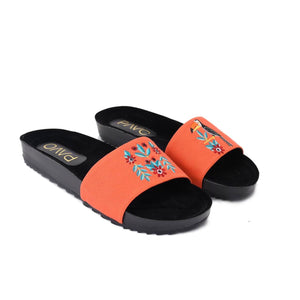 Toucan Orange Slippers -Code 5013