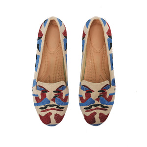Army shoes with Colourful embroideries -6007