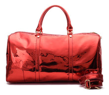 Load image into Gallery viewer, Red Duffle Bag leather -310
