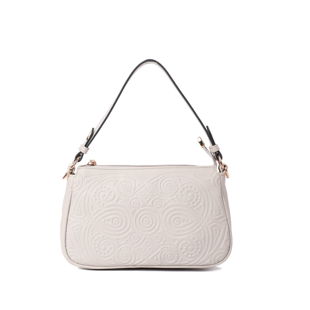 Engraved Off-white Hobo Handbag - Code 935