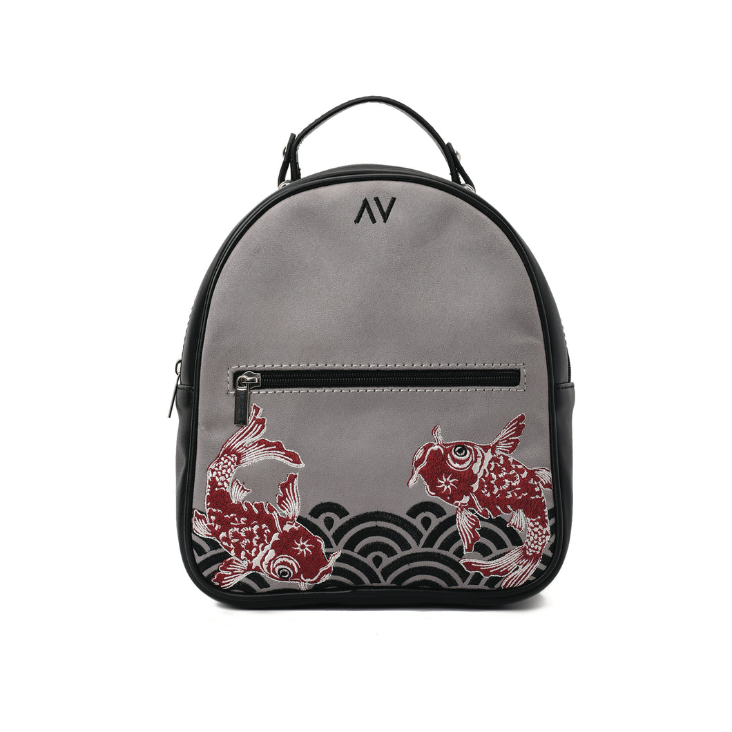 Maze mono Grey Backpack - Code 411