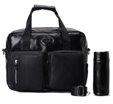 Load image into Gallery viewer, Diaper bag - Leather Black- Code 201