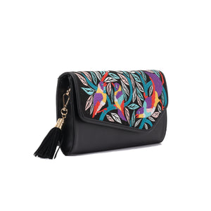 Egyptian Khaymia Black V clutch Bag - Code 730