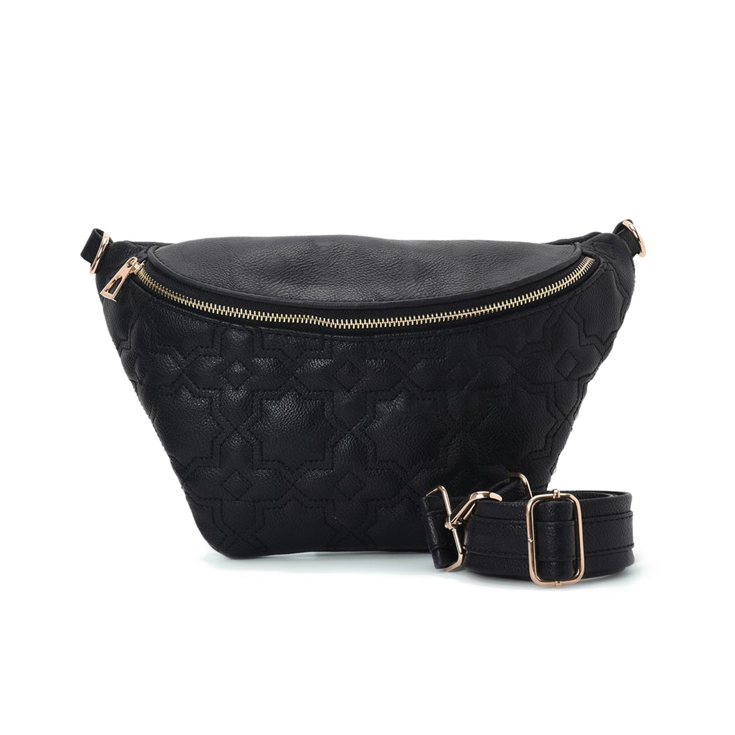 Fanny pack - Black with Mamluki stars Pattern- Code 1001
