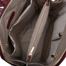 Load image into Gallery viewer, Laptop Burgundy with Burgundy suede Backpack/Cross - Code 2005