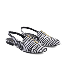 Load image into Gallery viewer, Sira shoes with Black and white fabric-6000
