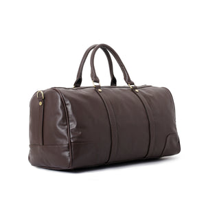 Duffle Bag unisex Dark Brown leather -314