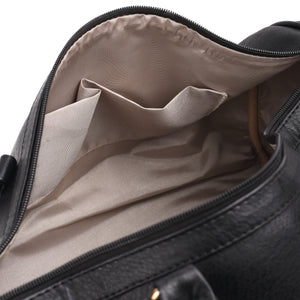 Duffle Bag Black leather -303