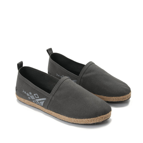 Grey men with grey embroideries  Espadrilles-7007