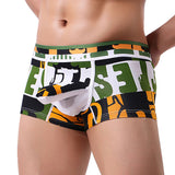 Men Transparent Underwear Print Boxer Briefs Shorts Bulge Pouch Underpants