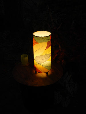 Eco_friendly Handmade Outdoor Cocoa Series Real Leaf Lamp - Multi colored