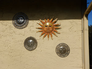 Cheery Floral Sun Faces - set of 3