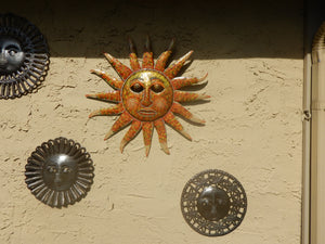 Large Hand-painted Glorioius Sunface  Wall Art