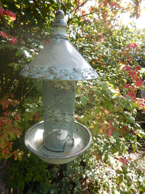 Antique Finish Hanging Bird Feeder
