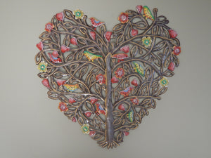 Painted Heart Tree Wall Art