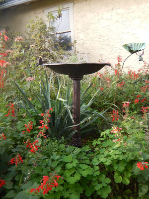 Rustic Cast Iron Bird Bath